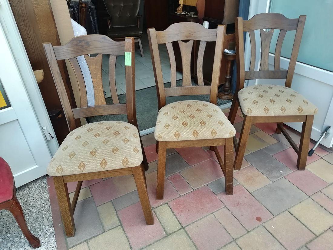 CC07 3 db tölgyfa szék 11.900Ft/db